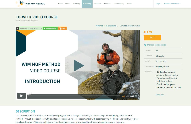 Wim Hof Method - 10-week video Coupon Code